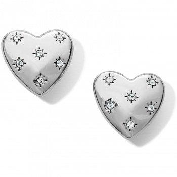 Stellar Heart Post Earrings
