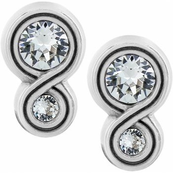 Infinity Sparkle Post Earrings