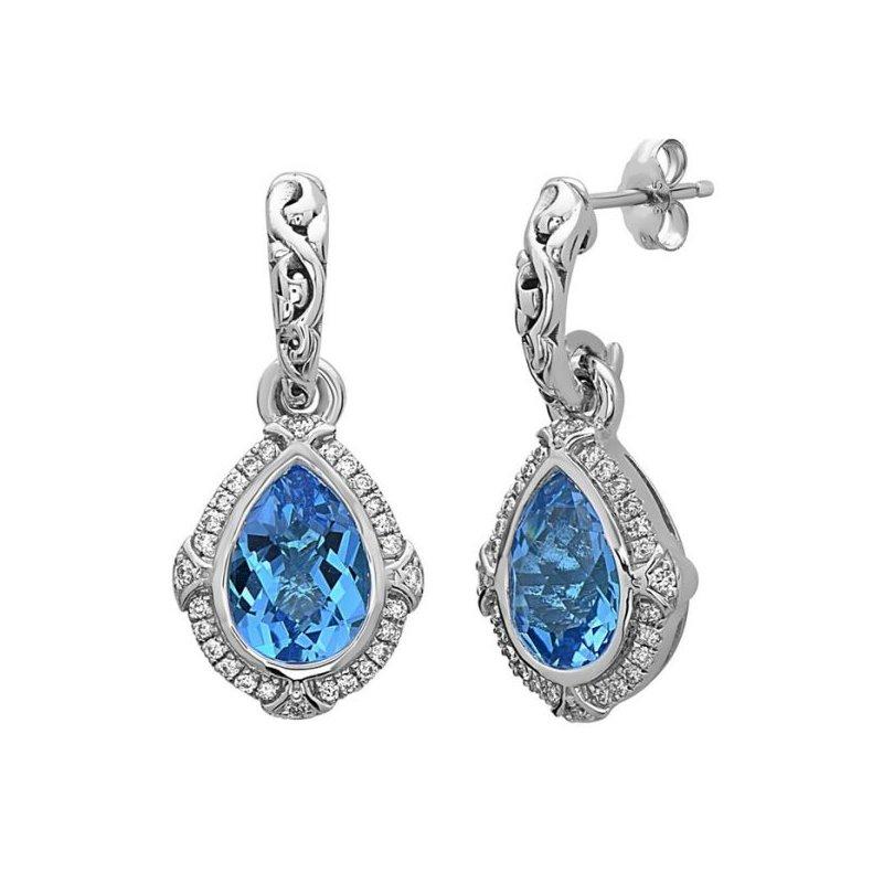 Charles Krypell Ellah Blue Topaz Earrings