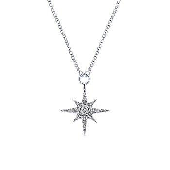 14k White Gold Starlis Diamond Necklace