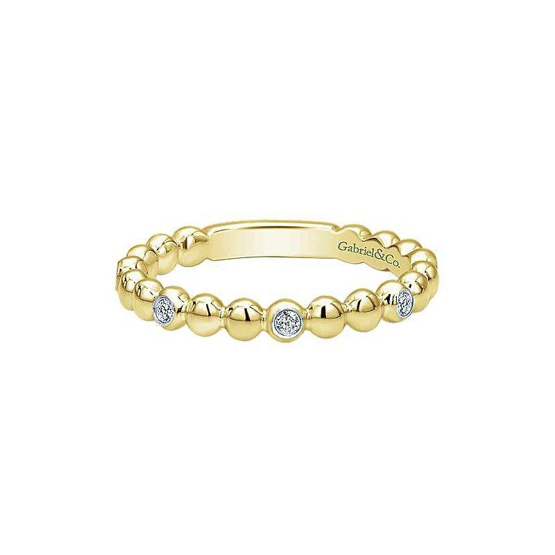 Gabriel Fashion 14K Yellow Gold Stackable Diamond Ring