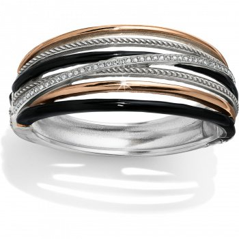 Neptune's Rings Black Hinged Bangle