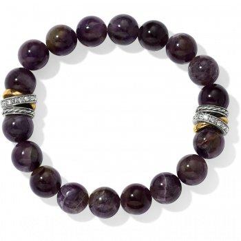 Neptune's Rings Amethyst Stretch Bracelet