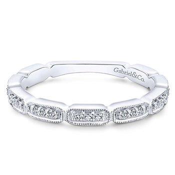 14k White Gold Stackable Diamond Ladies' Ring