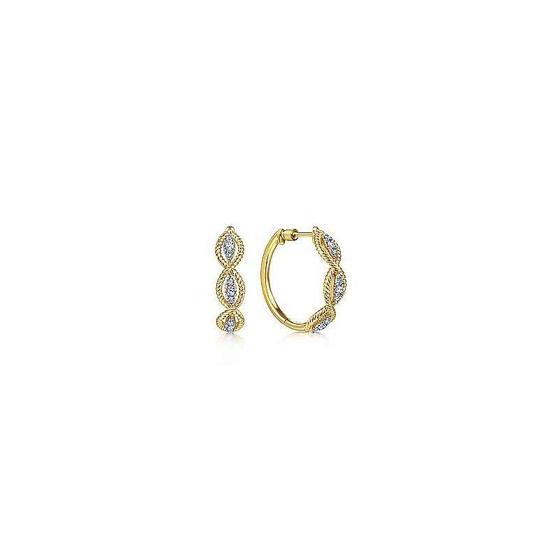 Gabriel Fashion 14K Yellow Gold 20MM Fashion Earrings