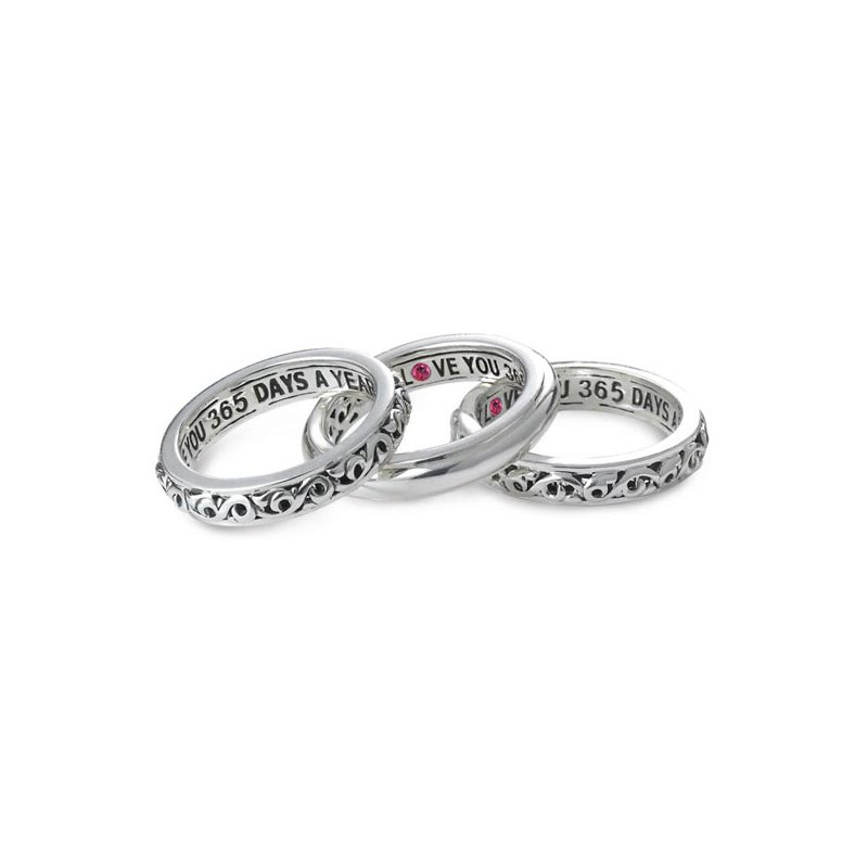 Charles Krypell 'I Love You 365 Days A Year' Stackable Band Rings