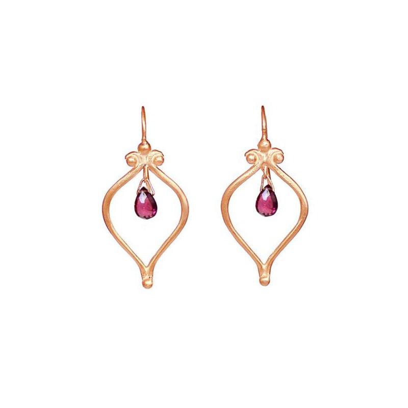 Hinchliffe Jewelry WHATS OLD IS NEW GARNET DROP EARRINGS