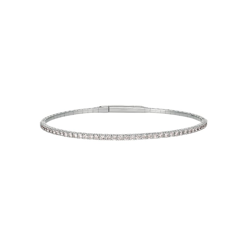 Great American Jewelry  14kt White Gold Flexible Diamond Bracelet