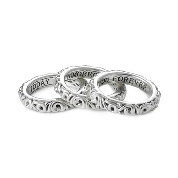 'I Love You Today… I Love You Tomorrow… I Love You Forever…' Stackable Band Rings