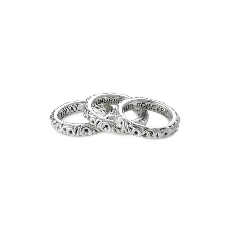 Charles Krypell 'I Love You Today… I Love You Tomorrow… I Love You Forever…' Stackable Band Rings