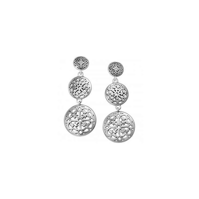 Brighton Ferrara Medallion Post Drop Earrings