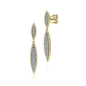 14K Yellow/White Gold Fashion Earrings