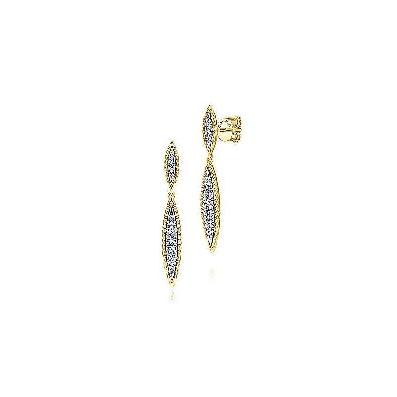 Gabriel Fashion 14K Yellow/White Gold Fashion Earrings