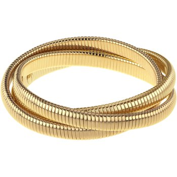 Triple Strand Goldtone Rolling Bracelet