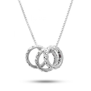 'I Love You Today… Tomorrow… Forever…' Three Ring Love Necklace
