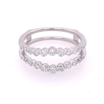 Diamond Ring Guard in White Gold