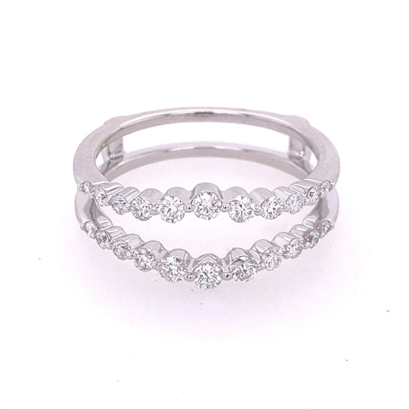 Royal Jewelry Diamond Ring Guard in White Gold