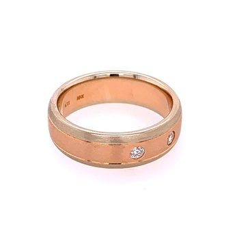 18k Rose and Yellow Gold Wedding Band