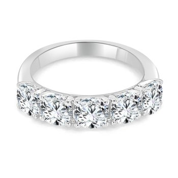 1.0 CTW Five Diamond Band in White Gold