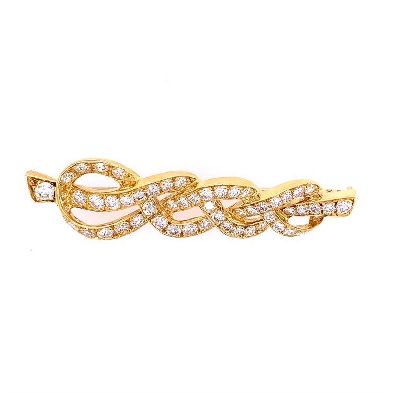 Perry's Estate Collection Knotted Gemlock Diamond Pin in 18k Gold