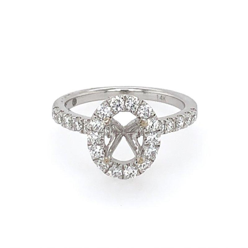 Imagine Bridal Diamond Semi Mount for Oval Cut Diamond