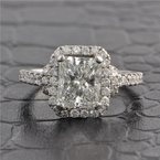 Perry's Estate Collection GIA 2.01 ct. Radiant Cut Diamond Engagement Ring