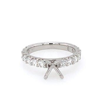 Diamond Semi Mount for Round Cut Diamond