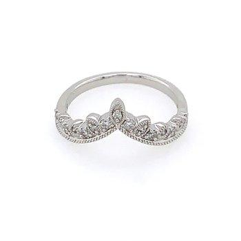Diamond Tiara Style Ring in White Gold