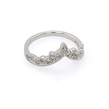 Diamond Tiara Style Ring in White Gold