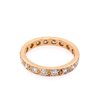 Diamond Eternity Band in Yellow Gold Size 8.75