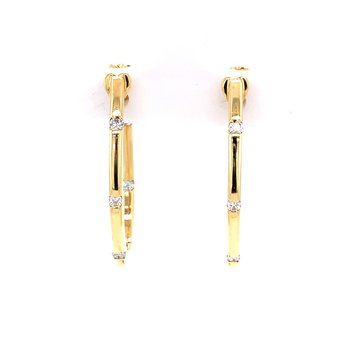Roberto Coin Hoops Earrings with Diamonds
