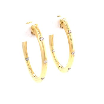 Roberto Coin Hoops Earrings with Diamonds