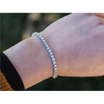 5.0 CTW Diamond Bracelet in White Gold