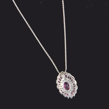 Vintage Inspired Pink Sapphire Pendant