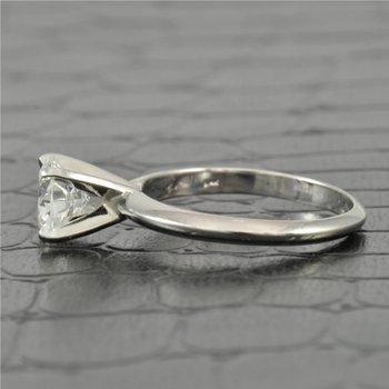 GIA 1.11 Carat G-VVS2 Round Brilliant Cut Diamond Engagement Ring