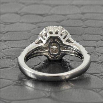 Multi-Cut Diamond Engagement Ring in White Gold