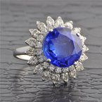 Perry's Estate Collection No Heat Sri Lankan Sapphire and Diamond Ring in Platinum