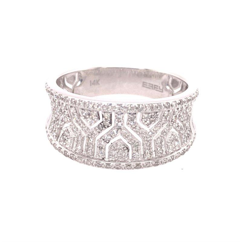 Effy Geometric Patterned Open Work Diamond Ring in White Gold
