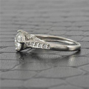 0.92 Carat Round Brilliant Cut Diamond Engagement Ring