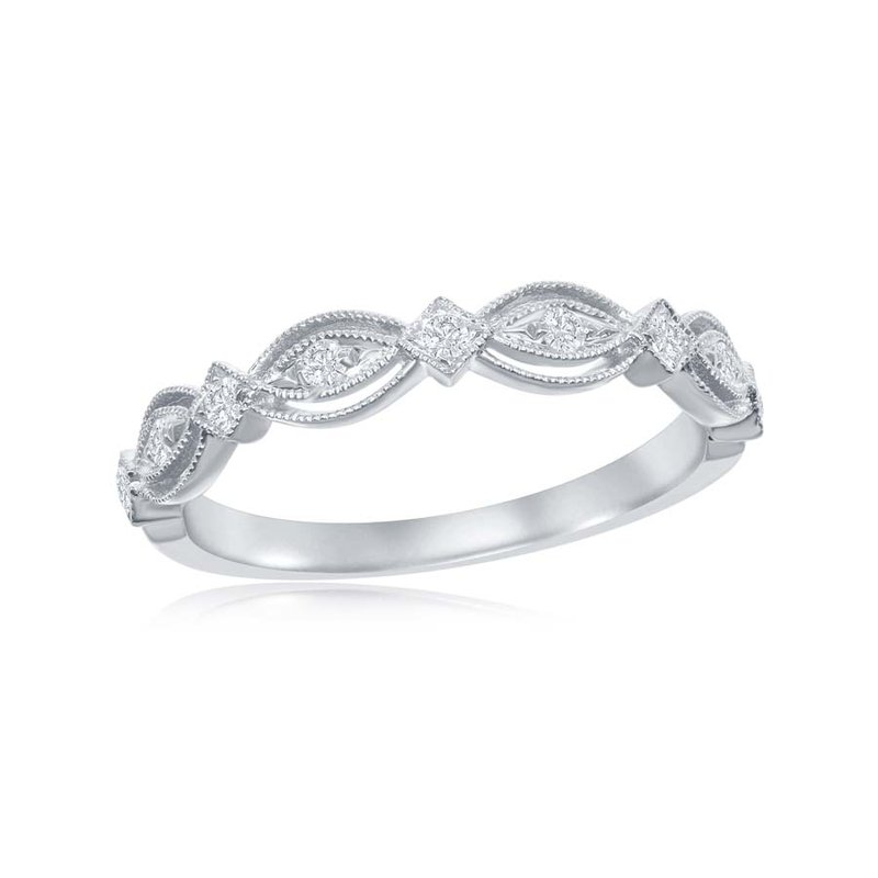 Jewels By Jacob Open Work Diamond Band in White Gold