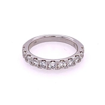 1.0 CTW Round Brilliant Cut Diamond Band in White Gold
