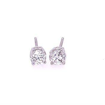 .65 CTW Diamond Stud Earrings