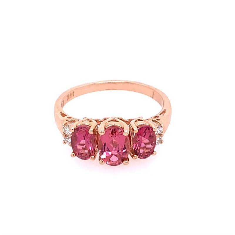 Effy Pink Tourmaline Ring in Rose Gold