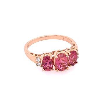 Pink Tourmaline Ring in Rose Gold
