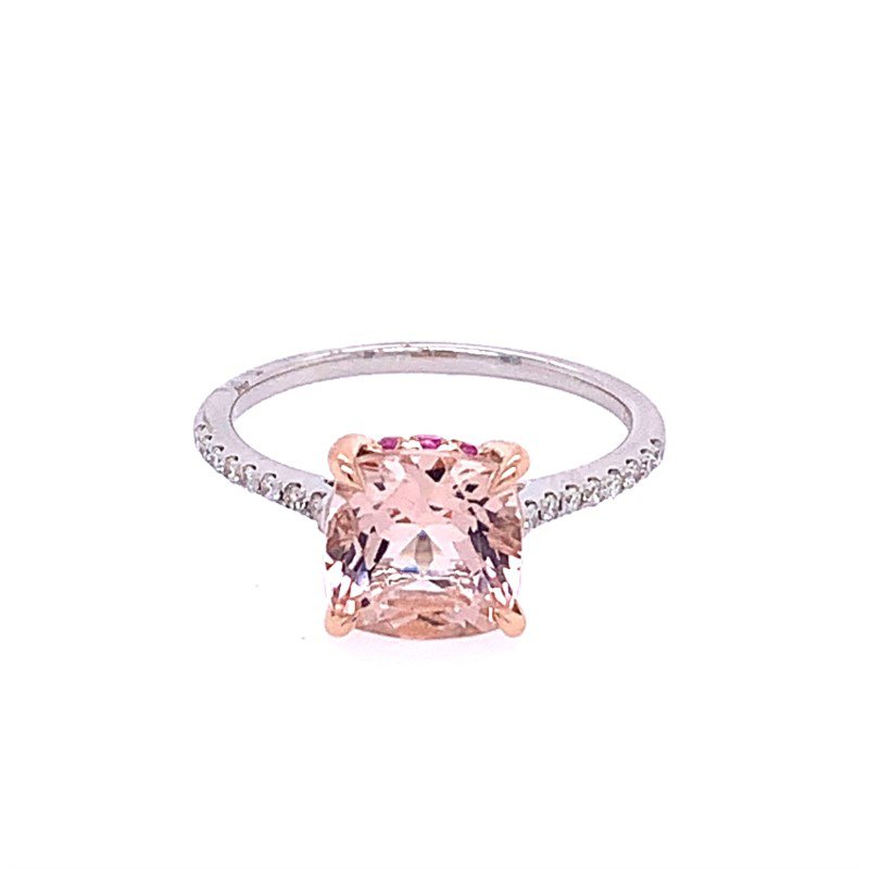 Effy Morganite and Pink Sapphire Ring in Rose Gold