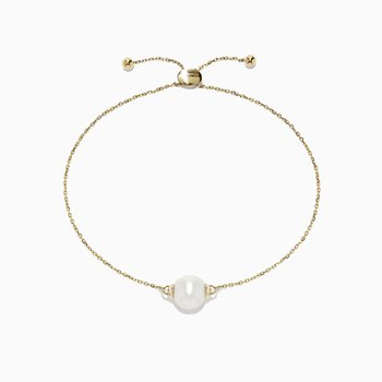 14K Yellow Gold Cultured Fresh Water Pearl Bracelet