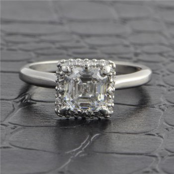 Tacori 1.64 ct. Asscher Cut Diamond Engagement Ring