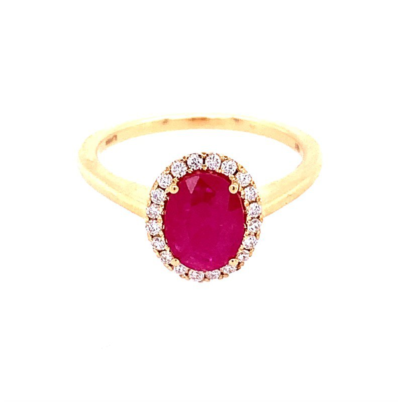 Perry's Estate Collection Ruby and Diamond Ring in 18k Yellow Gold