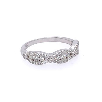 Diamond Band in White Gold