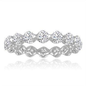 1.50 CTW Diamond Eternity Band in White Gold